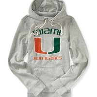 Aeropostale  Mens University of Miami Popover Hoodie