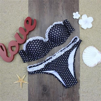 Women Polka Dots Bikini Set Bathing Suit Swimsuits