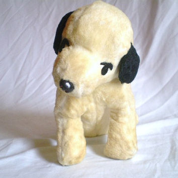 Vintage RCA Nipper Stuffed Dog Plush by jclairep on Etsy