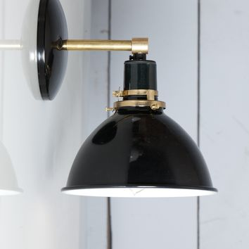 Black Shade - Brass Wall Sconce Light