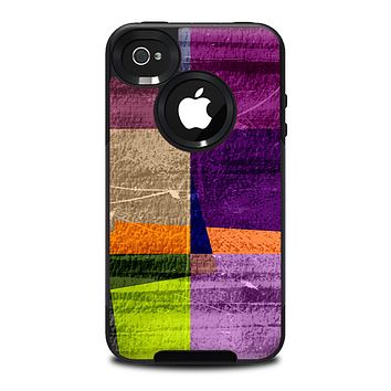 The Vintage Highlighted Panels of Color Skin for the iPhone 4-4s OtterBox Commuter Case