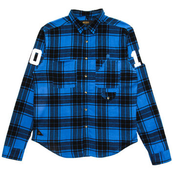 10 Deep - Big 10 Plaid L/S Button-Up Shirt (Blue)