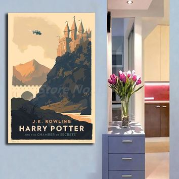 Magical Vintage Harry Potter Book Covers Canvas Painting Print Living Room Home Decor Modern Wall Art Oil Painting Poster Giclee