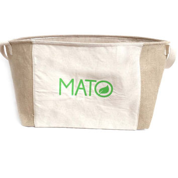 Mato Eco Friendly Jute Toy Storage Bin Basket Drawer Organizer