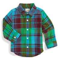 Boy's Peek 'Dawson' Plaid Woven Shirt