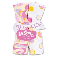 Dr. Seuss ''Oh, the Places You'll Go!'' 4-pk. Burp Cloth Bouquet by Trend Lab - Pink