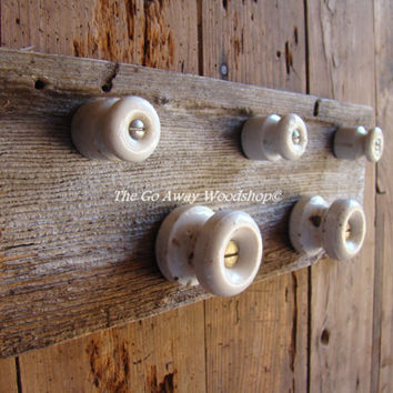 Barnwood wall hook rack