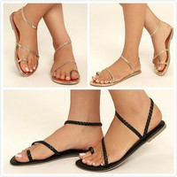 Women's Summer Simple Rope Sandals - Free Shipping