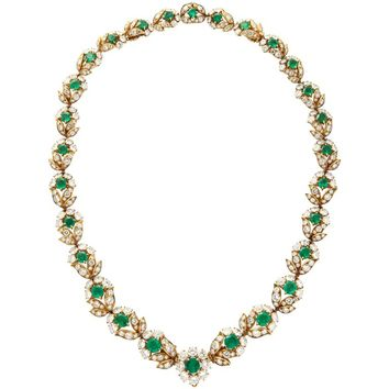 Van Cleef & Arpels Diamond Emerald Necklace Converts to Bracelets