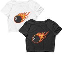 Flamin' 8 Ball Crop Top