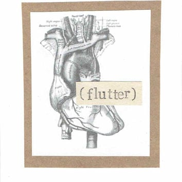 Anatomical Heart Flutter Valentine's Day Card | Funny Medical Science Nerdy Anatomy Gothic Humor Oddities Doctor Nurse Men Women