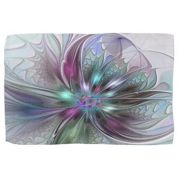 Colorful Fantasy, abstract and modern Fractal Art Kitchen Towels