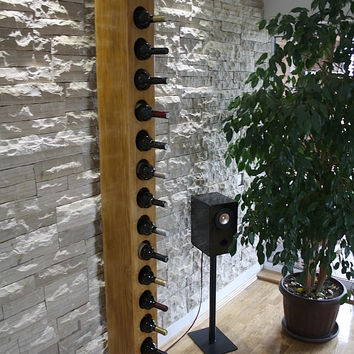 Large solid wood wine rack (14 bottles)