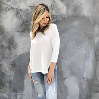 Well Rounded White Knit Top
