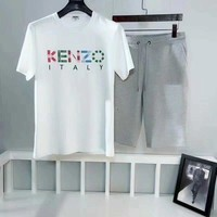 Kenzo Color Letter Printing round suit ☆005