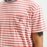 Polo Ralph Lauren Stripe Logo Pocket Tee | Urban Outfitters