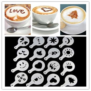 Coffee Barista Milk Stencils Template Strew Pad