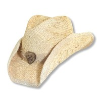 Dorfman Women's Heart Straw Cowgirl Hat Natural One Size