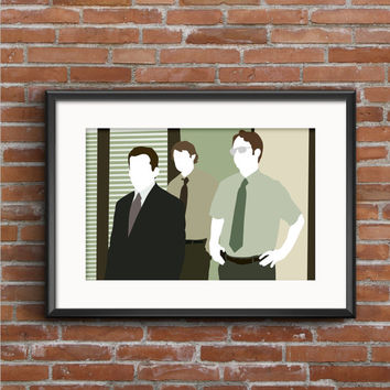 The Office Poster - Michael, Jim, & Dwight Print