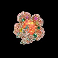 Pink Opal Bloom Ring – ANABELA CHAN . LONDON