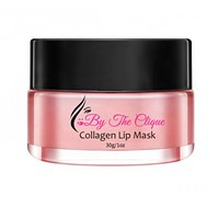 By The Clique all Natural Extra Moisturizing Stay On Collagen Lip Mask | Sleeping Or Day Use | Hydrate, Sooth, And Repair Dry Chapped Lips | Naturally Plump And Volumize