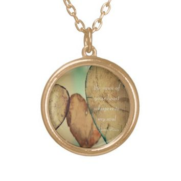 The Voice Of Your Heart Whispers To My Soul Silver Plated Necklace