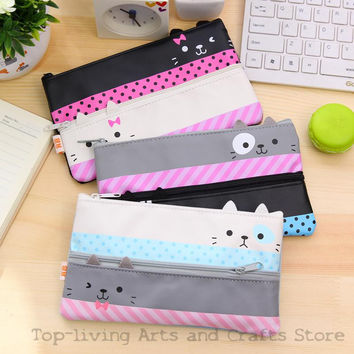 (1Pc Sell) Kawaii Pencil Case Canvas School Supplies Bts Stationery Gift School Cute Pencil Box Pencilcase Pencil Bag