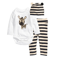 New cotton children Mickey Minnie baby boys girls sets clothes 3pcs(Long-sleeved Romper+hat+pants)children clothing set