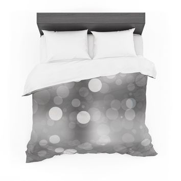 "KESS Original ""Spectral"" Gray Bokeh Cotton Duvet"