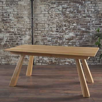 Franklin Mid Century Natural Finished Imported Ash Wood Dining Table