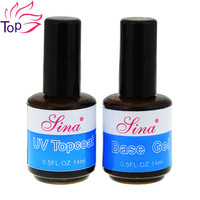 14ml UV Top Coat + Primer For Nail Foundation UV Gel Base Gel Nail Polish Top Long Lasting Nail Gel Primer JH378