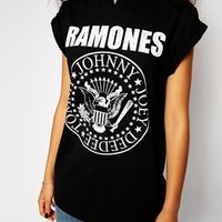 ASOS Boyfriend T-Shirt with The Ramones Print