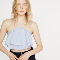 RUFFLE TOP - View All-TOPS-SALE-WOMAN   ZARA United States