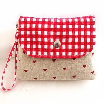Bridal Clutches, Bridal wristlets, Flap clutches, Wristlet, Cosmetic Bag-Hearts