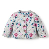 Infant Girl's Tea Collection 'Tarija' Quilted Jacket,