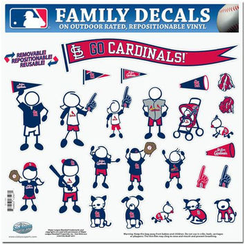 St. Louis Cardinals MLB Family Car Decal Set (Large)