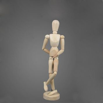 12cm Artist Movable Manikin Limbs Male Wooden Figure Model Mannequin Art Sketch Drawing Active Joint Puppet