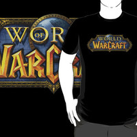 world of warcraft logo game pc ps3 ps4 xbox one 360 black t-shirt