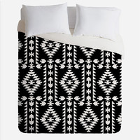 Deny Designs Geo Panel Duvet Cover Black/White One Size For Women 27338312501