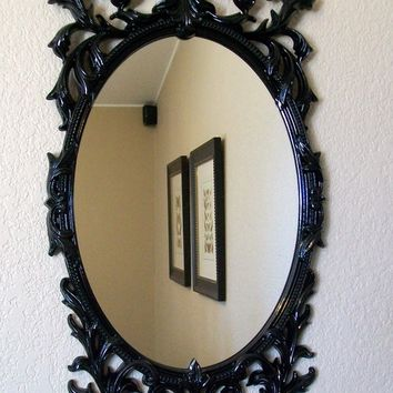 ROMANTIC BAROQUE ORNATE Vintage Framed Decorative Wall Mirror-Framed Chalkboard-Kitchen Chalkboard-Magnetic Chalkboard-Black or AnY Color