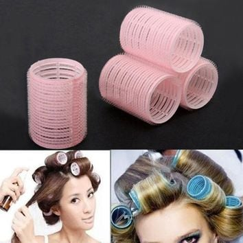 DCCKL72 Portable 6pcs/set Grip Cling Hair Styling Roller Curler Hairdressing DIY Tool 7 Sizes 5GVU
