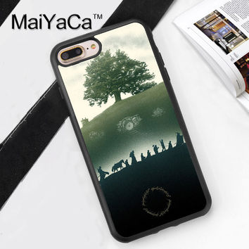 Lord Of The Rings Hobbit Art Soft Rubber Mobile Phone Cases For iPhone 6 6S Plus 7 7 Plus 5 5S 5C SE 4 4S Cover Skin Shell