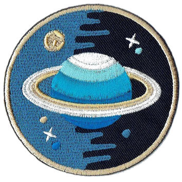 Saturn Stars Universe Embroidered Iron on Patch Garment Applique DIY Decoration Accessories