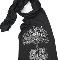 Scarf ROOTS TREE Sheer Jersey Tri-Blend Summer Scarf Wrap