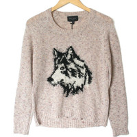 Romeo + Juliet Couture Dog Lover Husky Ugly Sweater