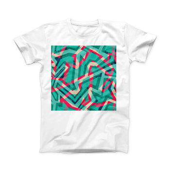The Trippy Retro Pattern ink-Fuzed Front Spot Graphic Unisex Soft-Fitted Tee Shirt