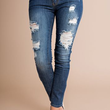 Real Deal Skinny Machine Jeans (Dark Wash)