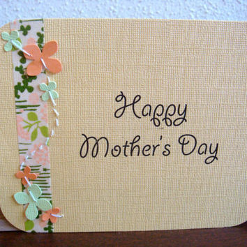 Mother's Day Card EcoFriendly w/ Peach and by CraftColorfully