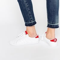 adidas Orginals Miss Stan White & Red Sneakers