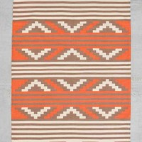 Bohem Woven Anciente Patternia Rug- Coral 4X6